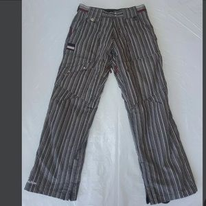 Section Women's M Ski Snow Pants Striped Lined